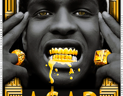 A$AP ROCKY - ORLANDO GRAPHICS (Poster)