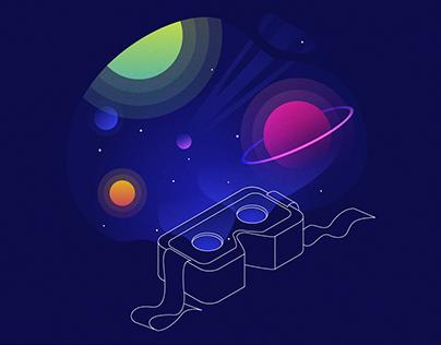 Illustration set for 'Fancy Interactive' studio