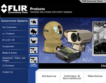 FLIR Systems product mainpage