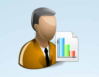 Marketer With Shadow Icon
