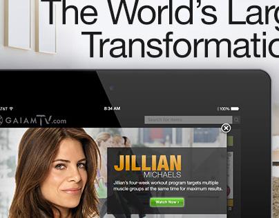 Gaiam TV Landing Page