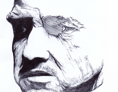 The Godfather Pen Drawing