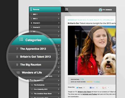 TV Junkie Web Design