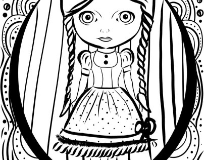 Blythe Doll Coloring Page