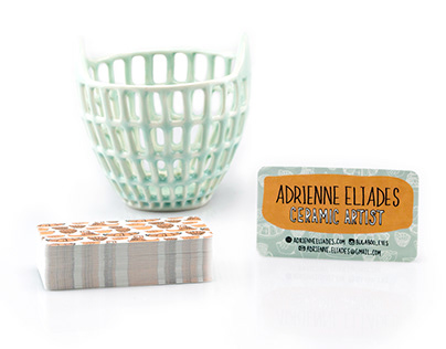 Adrienne Eliades - Ceramic Artist Business Card