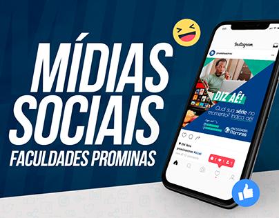 Mídias Sociais - Faculdades Prominas