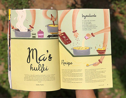 Ma's kulfi- Magazine spread