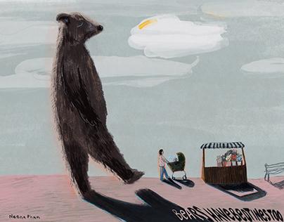 "Children's Book Illustration -""Bears Have Bedtimes Too"""