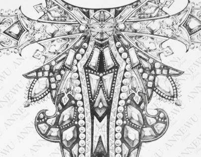 Prints design for ALEXANDER MCQUEEN AW/2011