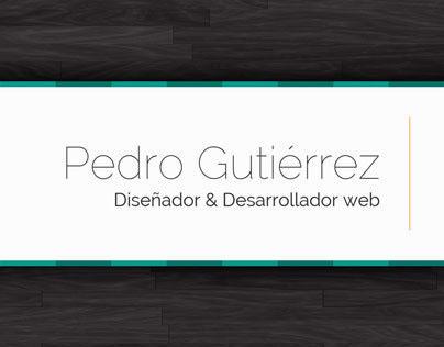 Pedro Gutiérrez | Curriculum Vitae [2013]