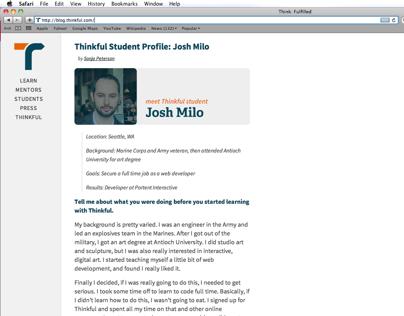 Thinkful Blog Redesign
