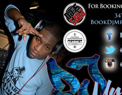 DJ Mr. Sarj Business/Contact Flyer
