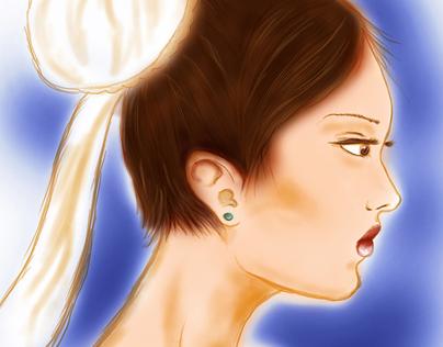 Chun-Li - Sketch/Painting