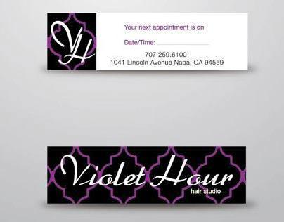 Violet Hour Business Cards