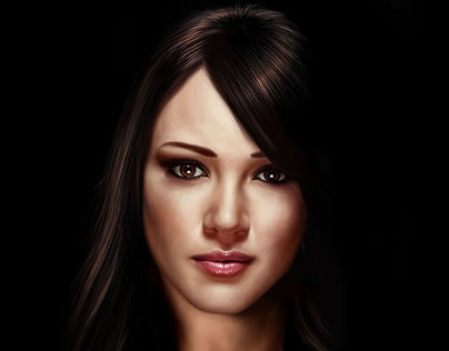 Hilary Duff - Digital Painting