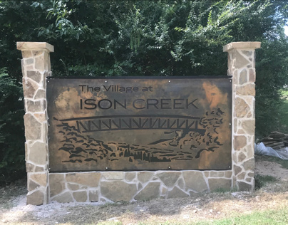 Ison Creek Subdivision Entrance