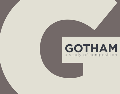 Gotham Typeface Exploration