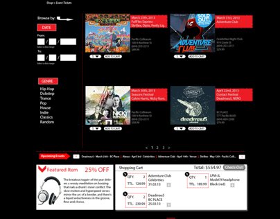LFM: Love For Music, Shopping Page