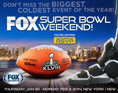 Fox Sports Super Bowl Weekend 2014 Evite Exploration