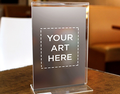 Thickness Acrylic Table Standee Mockup | FREE DOWNLOAD