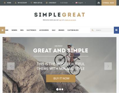 SimpleGreat – Premium Responsive Magento theme!