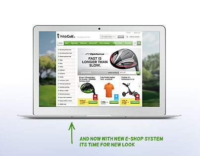 WebGolf.cz – e-shop redesign