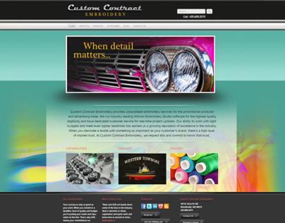 Web Design and branding for garment decorator