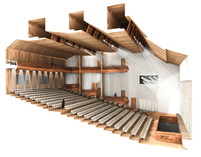 Theatre for 700 spectators in Moscow, Russia