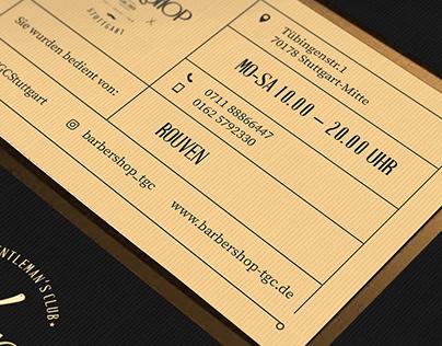 Bussines Card For Barber Shop