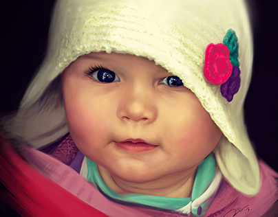 Baby Digital Painting - commission