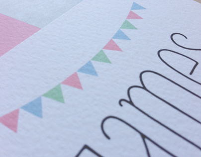 Bunting Wedding Save the Date Cards - James & Louise