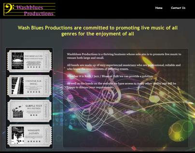 Wash Blues Productions - Website