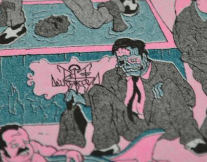 """Riso Prints - """"Recession"""""""