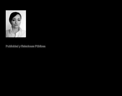 Resume / CV of PR (Public Relations)