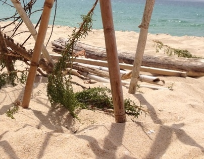 """iphone series #0055, """"Clichê on beach"""""""