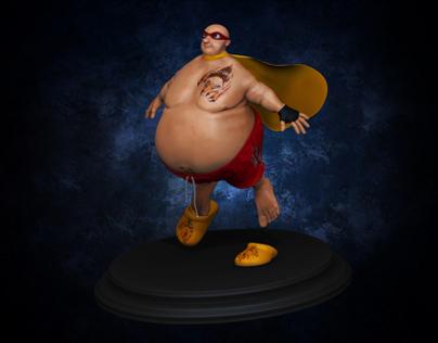 3D Fatty Superhero