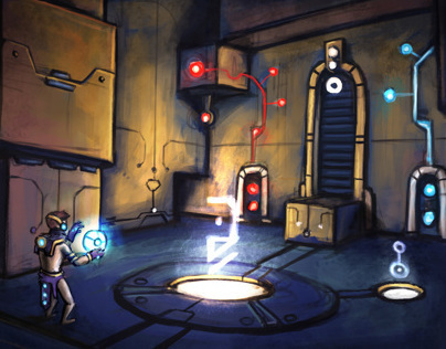 Science-fiction Puzzle Game - School Project