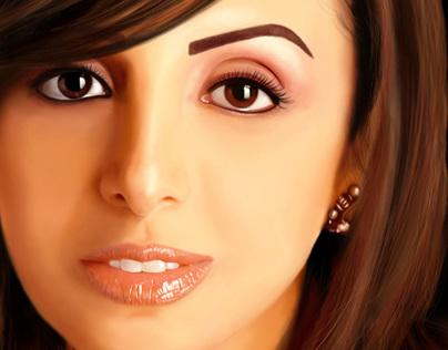 Angham Egyptian Singer | Digital Painting