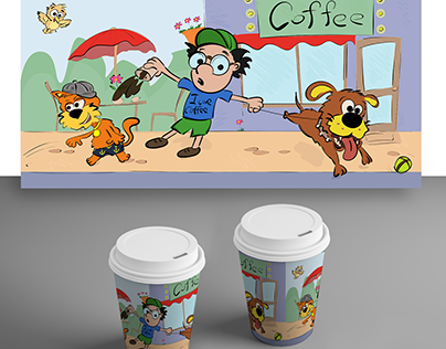 Illustration for a paper cup