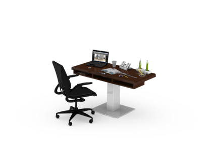 Thermoformed topped desk