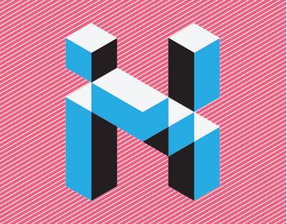Iso-me   Isometric Hebrew typeface