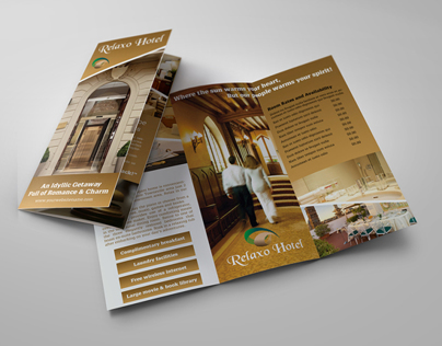 Hotel And Motel TriFold Brochure Template On Behance - Hotel brochure template