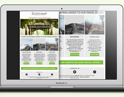 EcoTravel- Email newsletter template