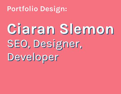 Ciaran Slemon Portfolio