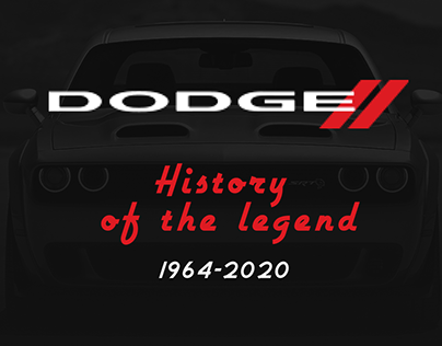 Dodge. History of Dodge CHARGER 1964 - 2020