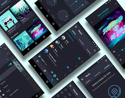 Android Music app. One player - four themes