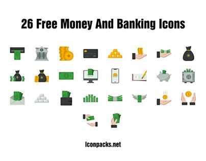 26 Free Money & Banking Icons