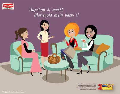Advertising Campaign - Britannia Mariegold