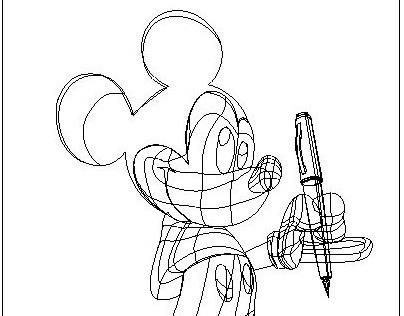 ilustración Mickey Mouse Illustrator piker