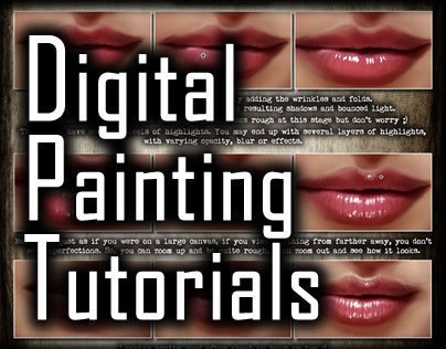 Digital Painting Tutorial: Lips v3